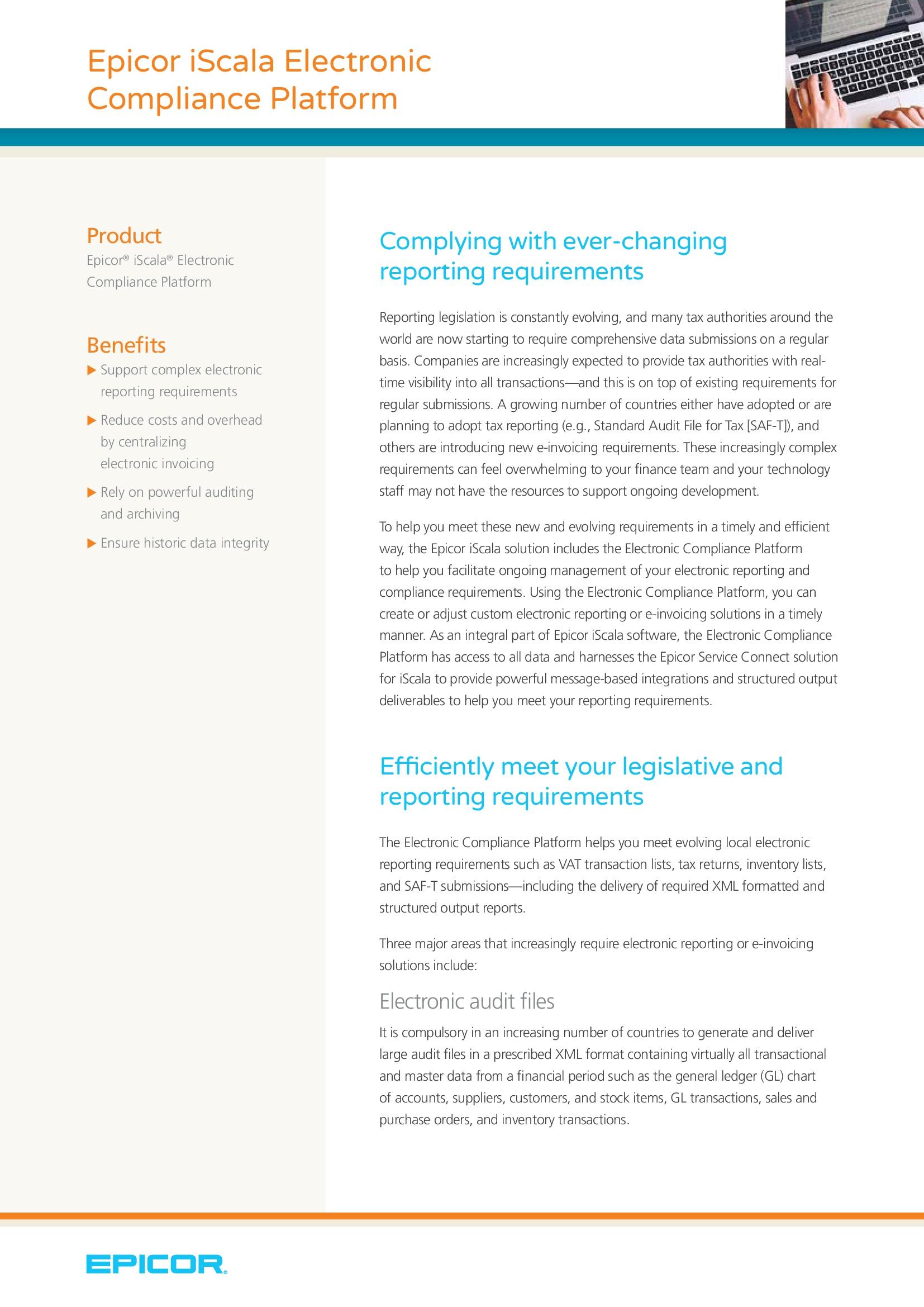 Electronic Compliance Platform