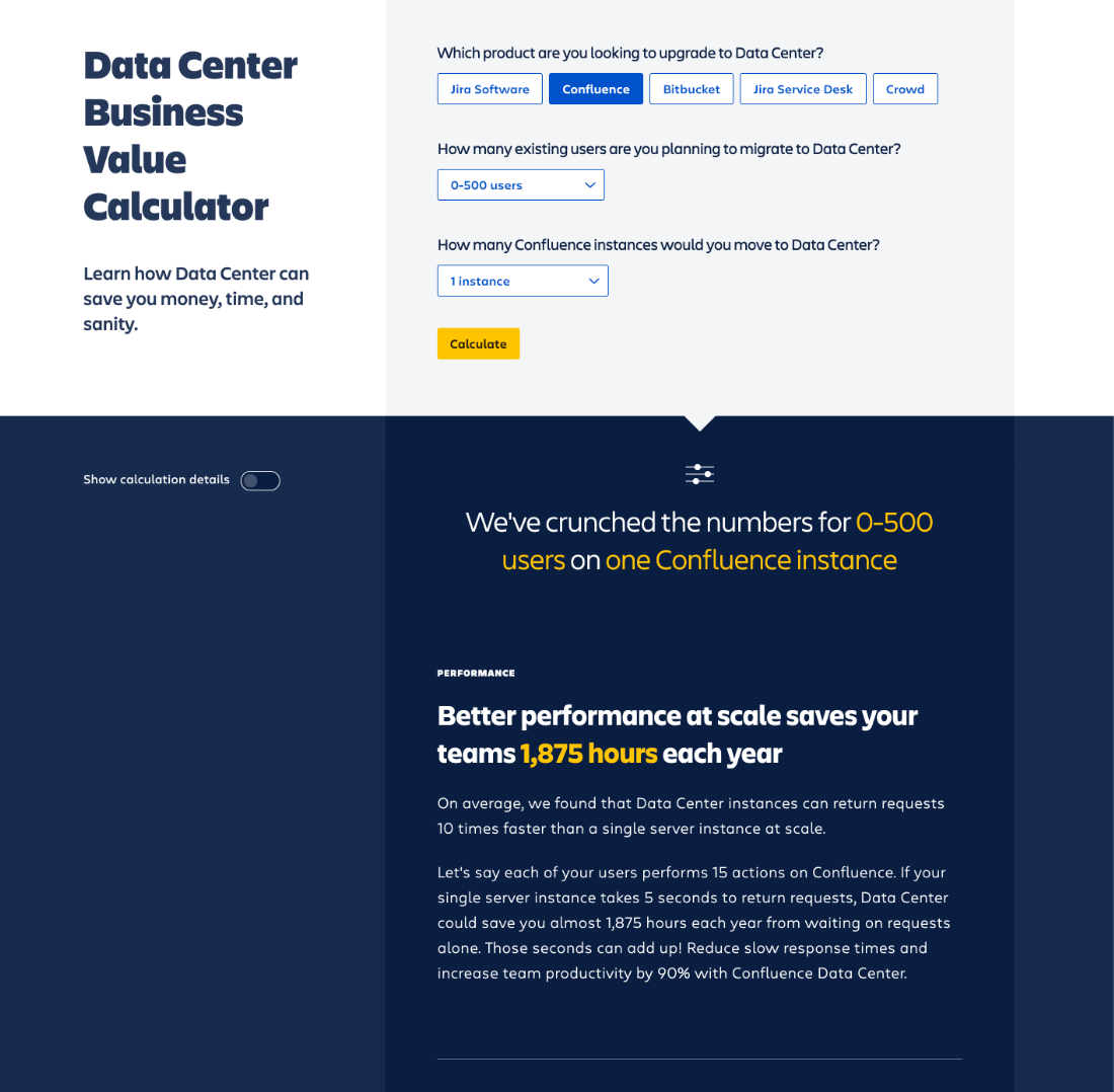 ROI Calculator Microsite