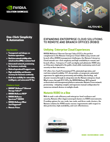 Nutanix and NVIDIA for ROBO: Expand Your Enterprise Cloud to Remote and Branch Offices - Solution Showcase