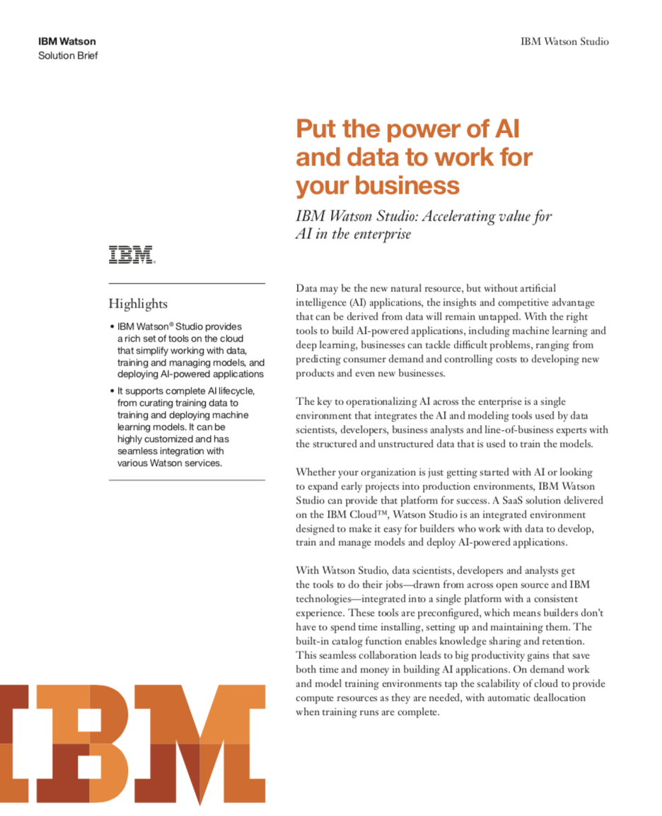 Put the Power of AI and Data to Work for Your Business