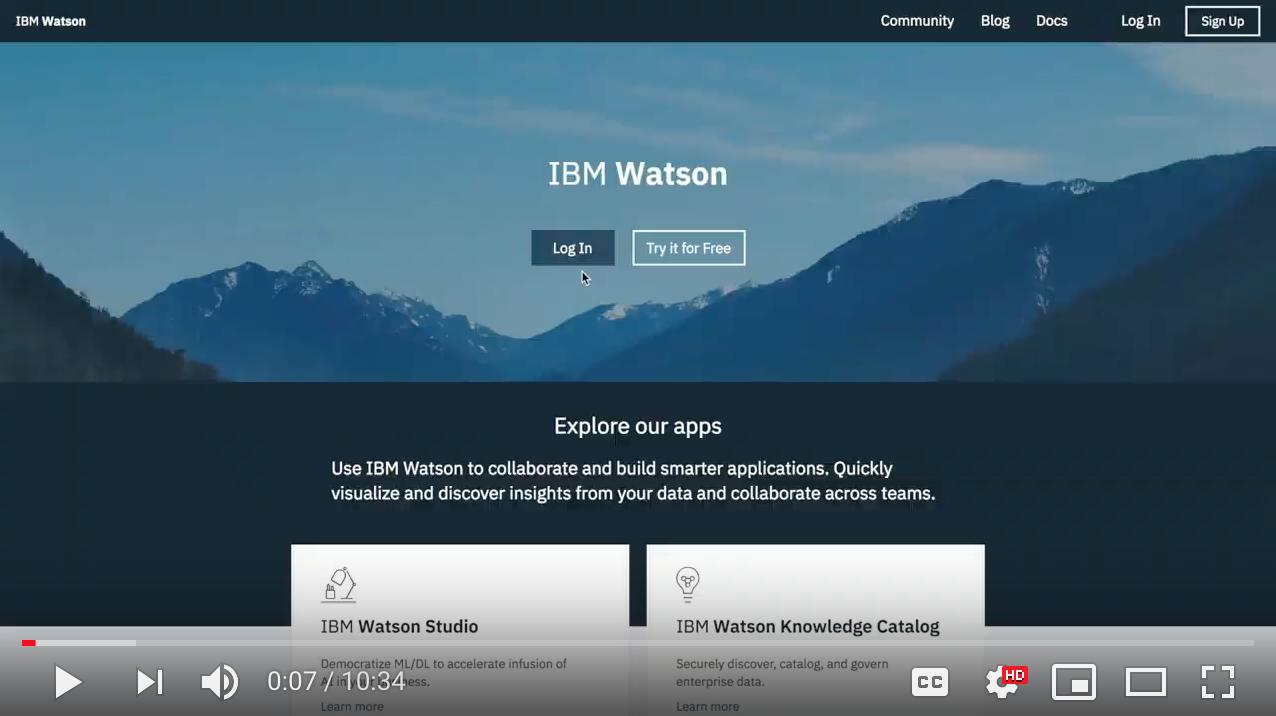 Getting Started with Watson Studio
